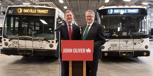 Oakville Transit getting $66.3M in trilateral government investment