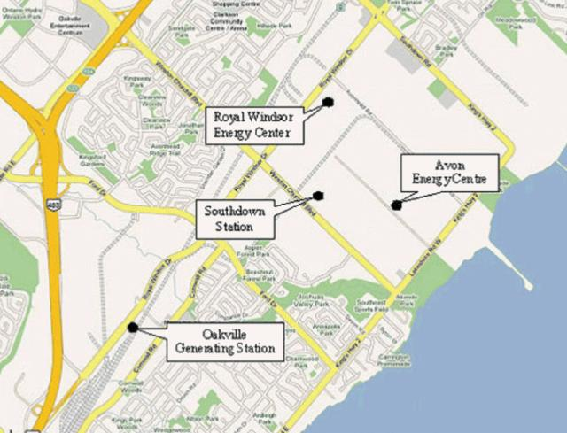 Map of power plant bids locations